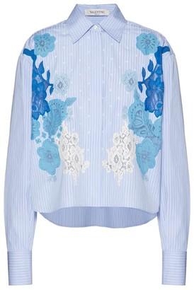 Valentino Lace Intarsia Poplin Shirt