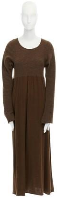 Comme des Garcons Khaki Wool Dresses