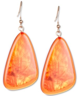 Style&Co. Style & Co Colored Triangular Statement Earrings, Created for Macy's