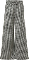 By Malene Birger houndstooth palazzo trousers