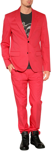 Marc by Marc Jacobs Cotton Twill Blazer in Scarlet