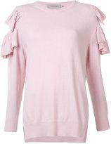 Preen Line ruffle trim jumper - women - Polyester/Viscose/Cashmere/Wool - S
