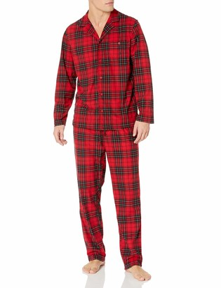 Nautica Men's Cozy Fleece Plaid Pajama Set