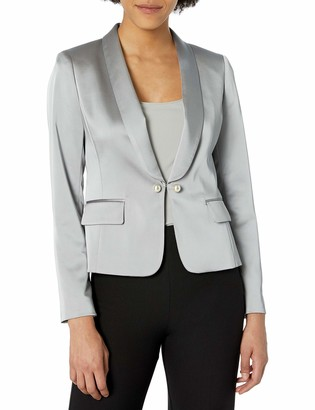 Tahari ASL Women's Pearl Roll Collar Jacket