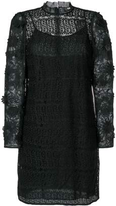 MICHAEL Michael Kors floral mesh lace dress