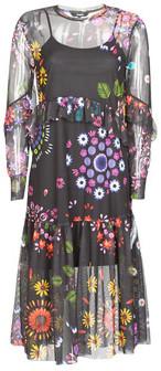 Desigual PORTLAND women's Long Dress in Multicolour