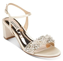 Badgley Mischka Women's Clair Embellished Block Heel Sandals