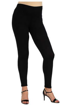 24Seven Comfort Apparel Women Stretch Ankle Length Maternity Leggings