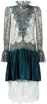 Lanvin draped lace effect dress