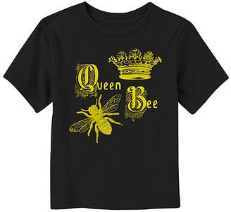 Fifth Sun Tee Shirts BLACK - Black 'Queen Bee' Crewneck Tee - Toddler & Kids