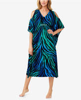 Ellen Tracy Printed Cold-Shoulder Caftan