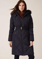 Thumbnail for your product : Phase Eight Lacey Long Fur Lined Puffer
