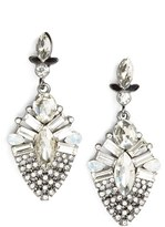 BP Women's Crystal Teardrop Statement Earrings