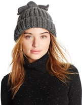 Federica Moretti Knit Hat with Bow