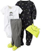 Carter's Baby Boys' 4-Pc. Alien Hat, Bodysuit, Footed Pants & Footed Coverall Set