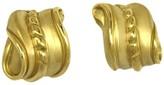 Kieselstein-Cord Kieselstein Cord 18k Yellow Gold Swirl Design Huggie Earrings