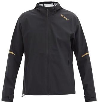 2XU Ghst Waterproof Hooded Jacket - Black Gold