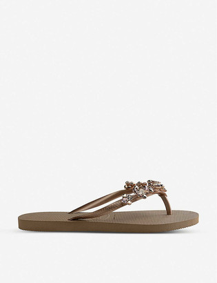 Havaianas Slim rubber flatform flip-flops