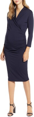 Isabella Oliver Balcombe Ruched Maternity Dress