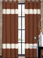 Asstd National Brand Colordrift Seismic Two-Tone Stripe Grommet-Top Curtain Panel