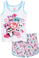 Intimo Beanie Boo Squad Mesh PJ Set (Little Girls & Big Girls)