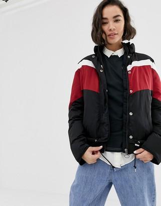 Lee Jeans sporty striped windbreaker jacket-Black