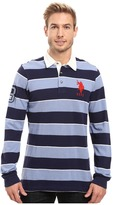 U.S. Polo Assn. Long Sleeve Rugby Striped Polo Shirt