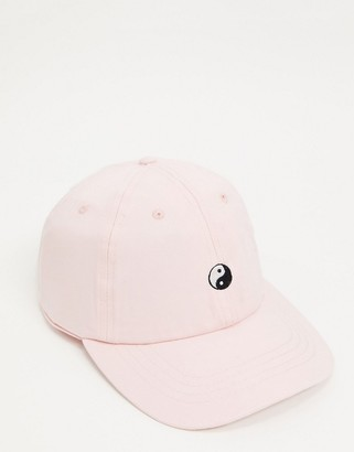 Daisy Street baseball cap in pastel with yin yang embroidery