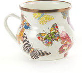 Mackenzie Childs MacKenzie-Childs White Butterfly Garden Mug