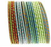 J & Company XERA JCo NEXTE Jewelry Striped Fabric Stackable Bracelet Set