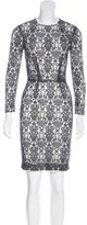 L'Agence Lace Sheath Dress