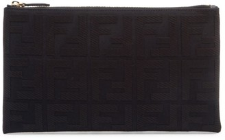 Fendi Small Embossed Flat Pouch