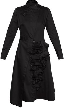 Talented Asymmetric Biker Dress Black