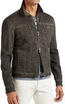 John Varvatos Star U.S.A. Denim-Style Zipper Jacket