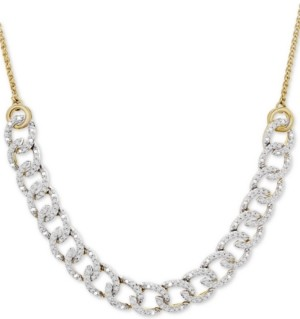 """Wrapped in Love Diamond Chain Link Adjustable 26"""" Bolo Necklace (1/2 ct. t.w.) in 10k Gold, Created for Macy's"""