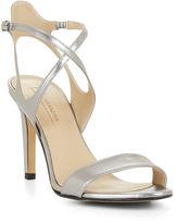BCBGMAXAZRIA High-Heel Crisscross Metallic Sandal