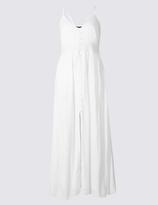 M&S Collection Lace Trim Slip Maxi Dress