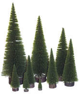 "Vickerman Village Flocked 20"" Moss Green Pine Tree Artificial Christmas Tree"