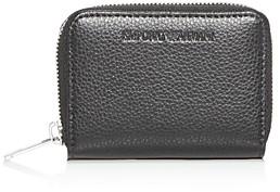 Giorgio Armani Emporio Vitello Bottalato Leather Coin Pouch