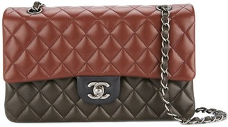 Chanel Pre Owned 2013-2014 Double flap quilted chain shoulder bag