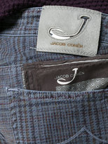 Jacob Cohen tartan pattern skinny trousers
