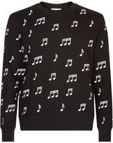 Sandro Note Print Sweater