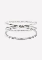 Bebe Crystal Lined Triple Cuff
