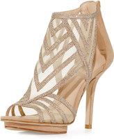 Pelle Moda Reade Glitter Fabric Platform Sandal, Gold