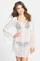 lea michele  Who made  Lea Micheles white lace cover up?