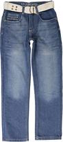 U.S. Polo Assn. Medium Safety Blue Belted Denim Jeans - Boys