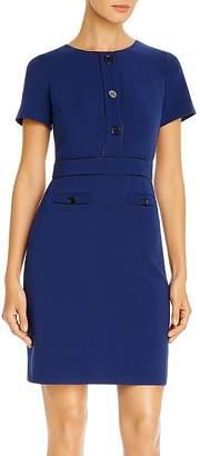 Karl Lagerfeld Paris Button-Front Sheath Dress