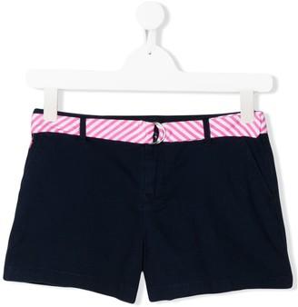 Ralph Lauren Kids TEEN belted logo denim shorts