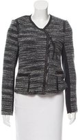 Rebecca Taylor Leather-Trimmed Bouclé Jacket w/ Tags