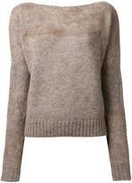 Agnona boat neck jumper - women - Polyamide/Mohair/Wool - 38